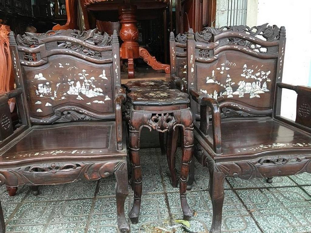 Kết quả hình ảnh cho Thu mua salon gỗ cũ